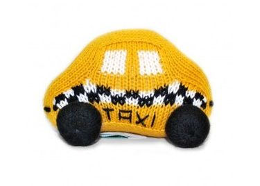 Knit taxi rattle