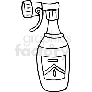 Cartoon Spray Bottle Black White Vector Clipart Clip Art Vector Clipart Clipart Design
