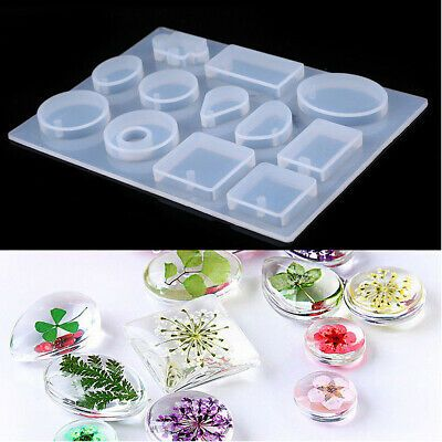 Necklace DIY Crystal Tool Resin Mold Making Jewelry Pendant Silicone Mould Craft