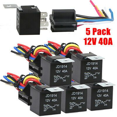 Ad Ebay Link Nc 40a 14v Dc Automotive Changeover Relay 5 Pin With Harness Sockets Light Weigh In 2020 Socket Set Relay Packing Car