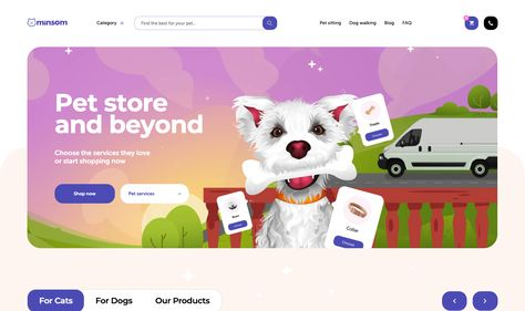 Online pet supplies store