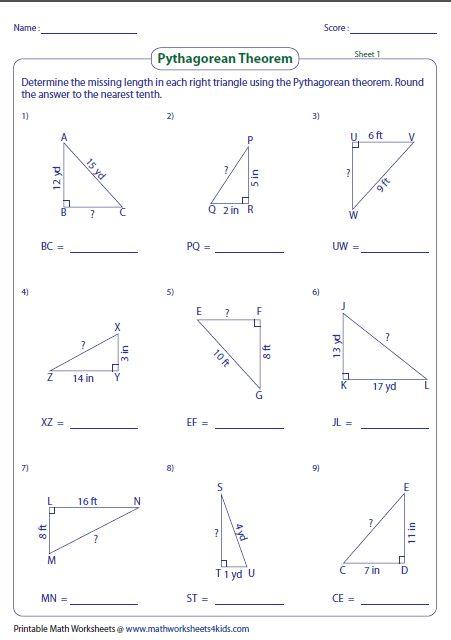 Pythagorean Theorem Posters Two Sizes Pythagorean Theorem Theorems Junior High Math