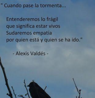 Voces Cuando Pase La Tormenta Alexis Valdés Tormenta Proverbios Arabes Murakami Haruki