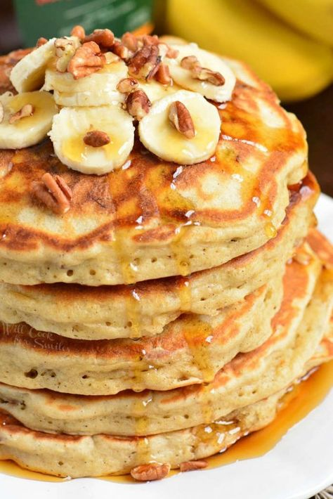 Banana Pancakes - Fluffy Pancakes For A Perfect Weekend Breakfast