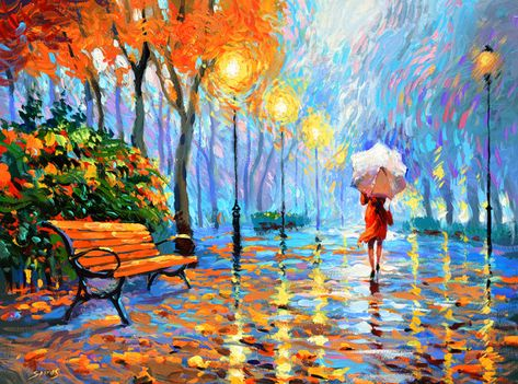 Items similar to For artist exposed .Breath of autumn-PALETTE KNIFE Oil on canvas Painting-Original Art by Dmitry Spiros. Ready to Hang* - inches on Etsy