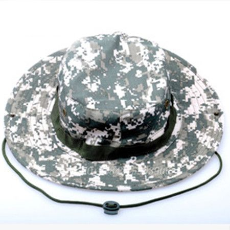 0fbb948c1e7 Bucket Hat Boonie Hunting Fishing Outdoor Cap - Wide Brim Military Boonie  Hat