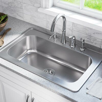 Mrdirect Stainless Steel 33 X 22 Drop In Kitchen Sink In 2019