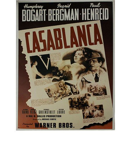 This Casablanca Metal Wall Hanging Is The Perfect Decoration For Your Media Room Family Theater Movie Lobby