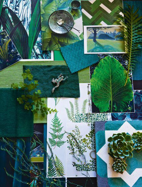Lush moodboard // Tropical garden // outdoor living