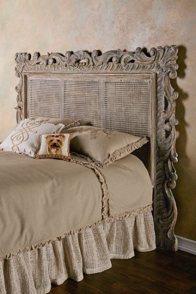 Wiht a fabulous patina, our Rouleau Caned Headboard is like something out of a fairytale! Available in Queen and King sizes.