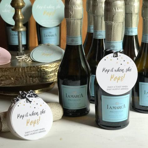 Baby Shower POP Labels Pop it when she POPS Shower Favor | Etsy