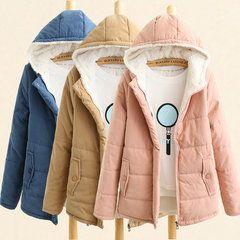 Zhi الخريف الشتاء مقنع الصلبة اللون المرأة القطن معطف Newchic موقع الجوال In 2020 Outwear Women Parka Coat Casual Jacket