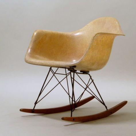 herman miller zenith plastics co rope schaukelstuhl rocking chair rar eames ebay furniture pinterest eames chairs - Charles Eames Schaukelstuhl