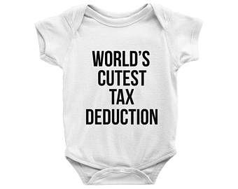 720924e895278 world's cutest tax deduction onesie, Accountant Husband, Finance ...