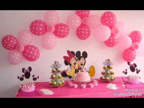 Various Ideas For Prepare The Tables Of Birthdays Everything Related To Mickey Mouse كيك ميكي ماوس Youtube Novelty Lamp Birthday Lamp
