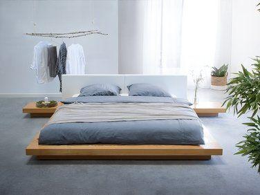 Lit Japonais Marron Avec Sommier 180 X 200 Cm Zen Lit Japonais Lit Design Moderne Idees De Lit