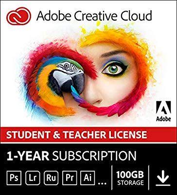 Amazon Com Adobe Creative Cloud Student And Teacher Edition Prepaid Membership 12 Month Download Valida Adobe Creative Creative Cloud Adobe Creative Cloud