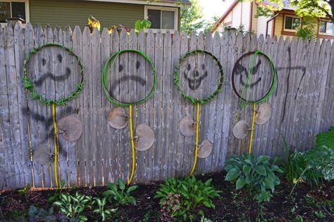 Wenn Der Garten Sichtschutz Zur Leinwand Wird 23 Ideen Zaun Kunst Sichtschutz Garten Und Garten