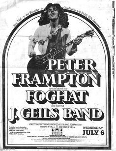 peter fr ton music gigs jams pinterest peter fr ton ZZ Top 80 S j geils band concert posters yahoo search results yahoo canada image search results