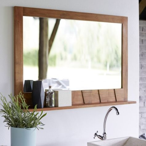 Icone Teak Mirror 100x70 Mirrors Sale Tikamoon Badspiegel