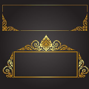 Gold Pattern Certificate Border Border Clipart Certificate Vector Set Png And Vector With Transparent Background For Free Download Photo Frame Design Gold Photo Frames Vintage Borders