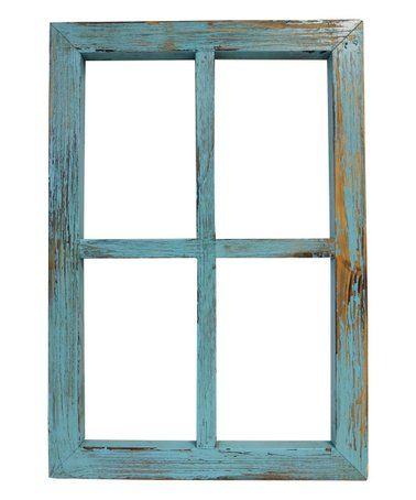 Love This Teal Distressed Window Frame On Zulily Zulilyfinds Window Frame Rustic Chic Wall Decor Rustic Chic