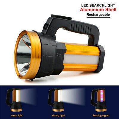 Advertisement Ebay Led Spotlight Searchlight Handheld Camping Lamp Usb Charging For Outdoor 120w In 2020 Camping Lamp Rechargeable Led Flashlight Led Spotlight