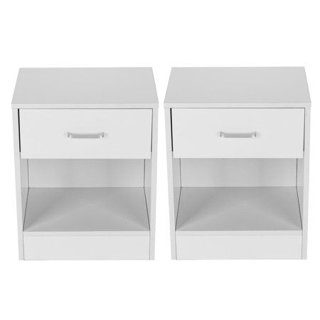 Clearance 2 Pack Small Bedside Cabinet Lockers With Drawers