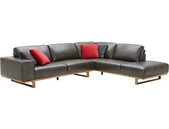 Pleasing Treviso 2 Piece Left Arm Facing Chaise Leather Sectional Dailytribune Chair Design For Home Dailytribuneorg