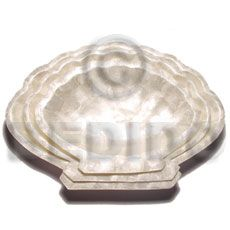 Capiz Noble Scallop Plate Philippine Gifts And Decor Item