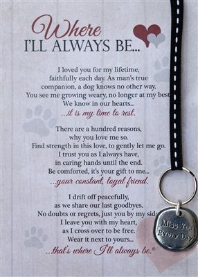 Beautiful Pet Bereavement Gift when you have to say good bye to your beloved friend.