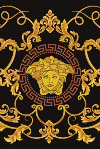 Download Ornate Versace Logo In Gold Wallpaper Versace Wallpaper Versace Logo Wallpapers Gold Wallpaper Httpslifemulticom wallpaper in gold and