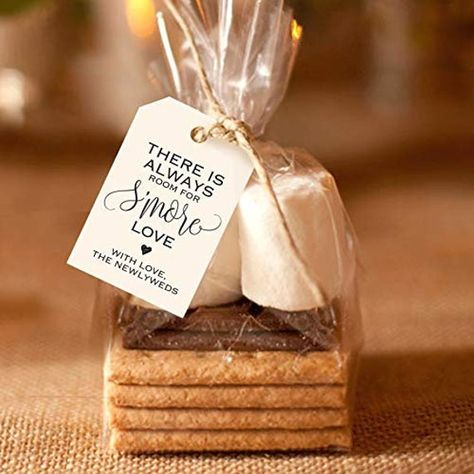 Wedding Ideas Bliss Collections S'More Love Favor Tags for Wedding Reception, Unique Table Setting Favor Idea, inches, Pack of 50 Wedding Reception Favors, Wedding Gifts For Guests, Camp Wedding, Wedding Favor Tags, Bridal Shower Favors, Smore Wedding Favors, Wedding Reception Alternatives, Dessert Ideas For Wedding, Wedding Appetizer Table