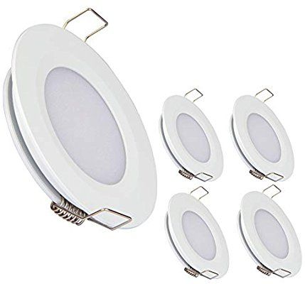 Amazon Com Acegoo Rv Boat Recessed Ceiling Light 4 Pack Super Slim Led Panel Light Dc 12v 3w Full Alu Led Panel Light Recessed Ceiling Lights Recessed Ceiling