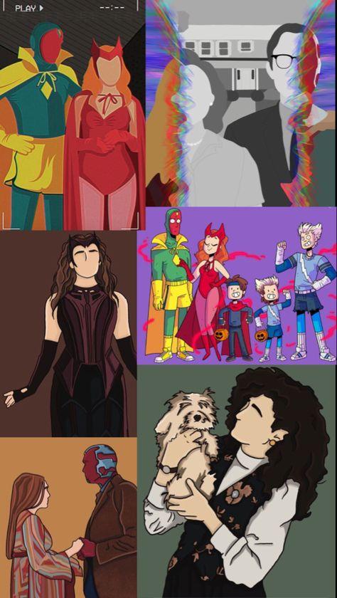 WandaVision Cartoon Wallpaper
