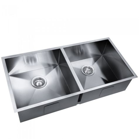 Stainless Steel Double Kitchen Laundry Sink 865 X 440 Mm