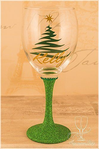 Personalised Christmas Wine Glass With Christmas Tree And Https Www Amazon Co Uk Dp B01m32tthq Ref Cm Sw R Pi Dp X Icyoabb Wine Glass Christmas Wine Glass