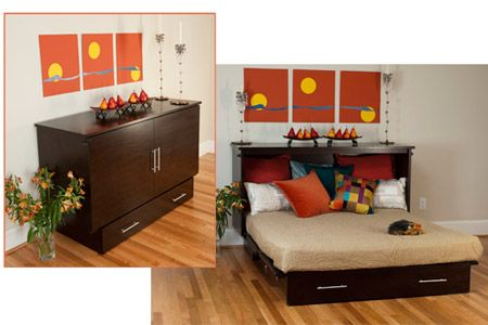 Cabinet Wall Bed | Space Saving Futons & Beds | Pinterest | Wall ...