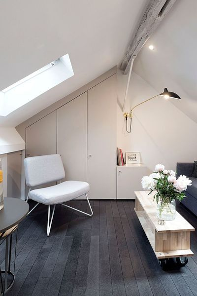 Amenagement Studio Chambre De Bonne 5 Exemples Reussis Chambre De Bonne Amenagement Studio Petite Chambre Mansardee