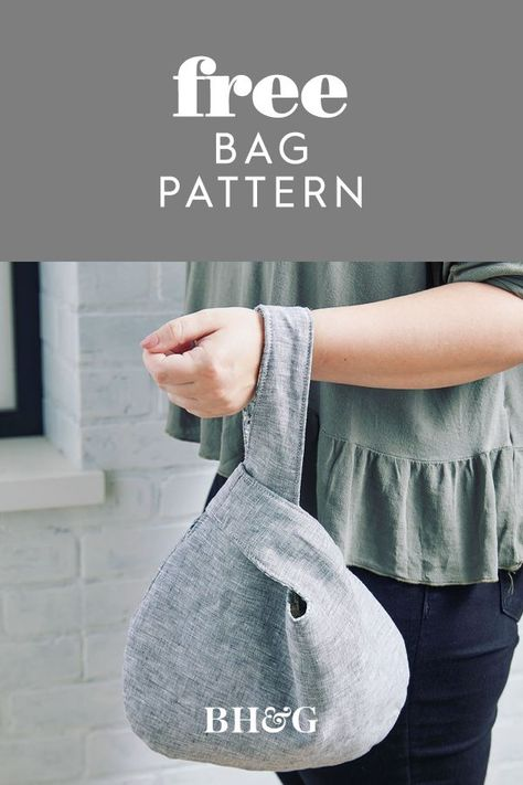 Add this simple carryall to your bag of sewing tricks. Pick two fabrics, one for the exterior and one for the lining, and whip up the trendy shape in a flash. #sewingpatterns #howtomakeatotebag #diypurse #bhg