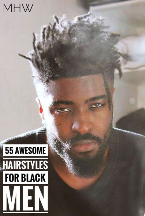 55 Awesome Hairstyles for Black Men, #awesome #black #hairstyles #menshairstyles,#casual #outfits #men