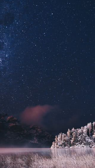 Sea Of The Starry Sky Iphone Wallpaper Snowy Forest Iphone Wallpaper Sky Beautiful Night Sky