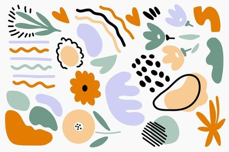 Download Hand Drawn Abstract Organic Shapes Background for free