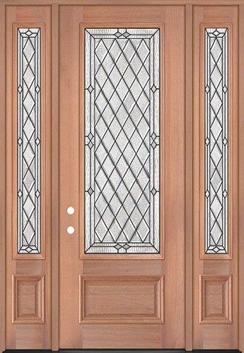 8 0 Tall Diamond 3 4 Lite Mahogany Wood Door Unit With Sidelites 294 1938 2 Wk Lt Mahogany Wood Doors Wood Doors Wood Exterior Door