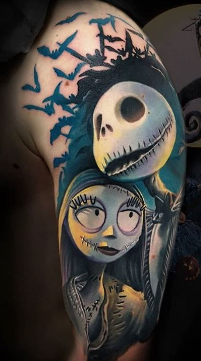 The Nightmare Before Christmas Tattoos - Jack and Sally