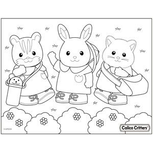 Calico Critters Official Site Family Coloring Pages Family Drawing Family Coloring