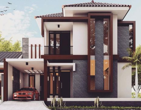 gambar teras rumah minimalis tingkat 2