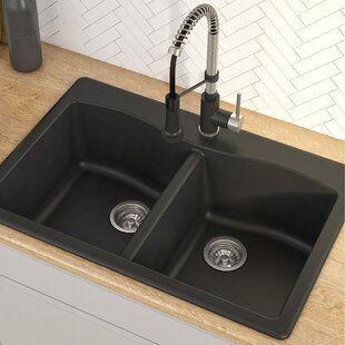 Elkay Quartz Classic 33 L X 22 W Double Basin Undermount Kitchen Sink Best Kitchen Sinks Granite Kitchen Sinks Drop In Kitchen Sink