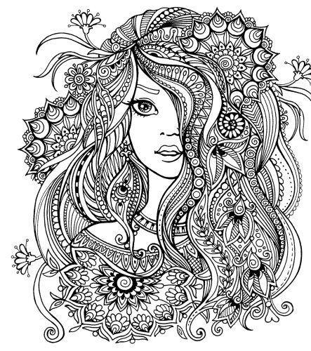 vsledek obrzku pro omalovnky sktka color me women pinterest adult coloring mandala and doodles