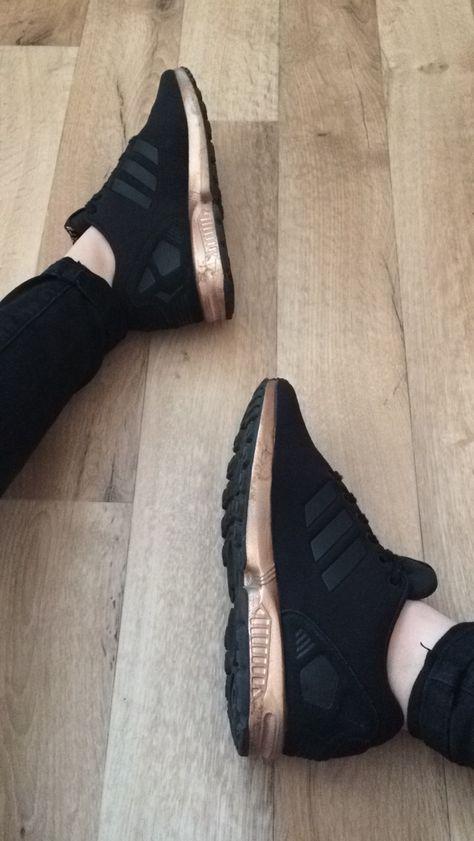 Adidas Zx Flux Noir Et Rose Gold 3